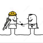prise-de-contact-d-agent-de-maîtrise-et-de-client-14918956