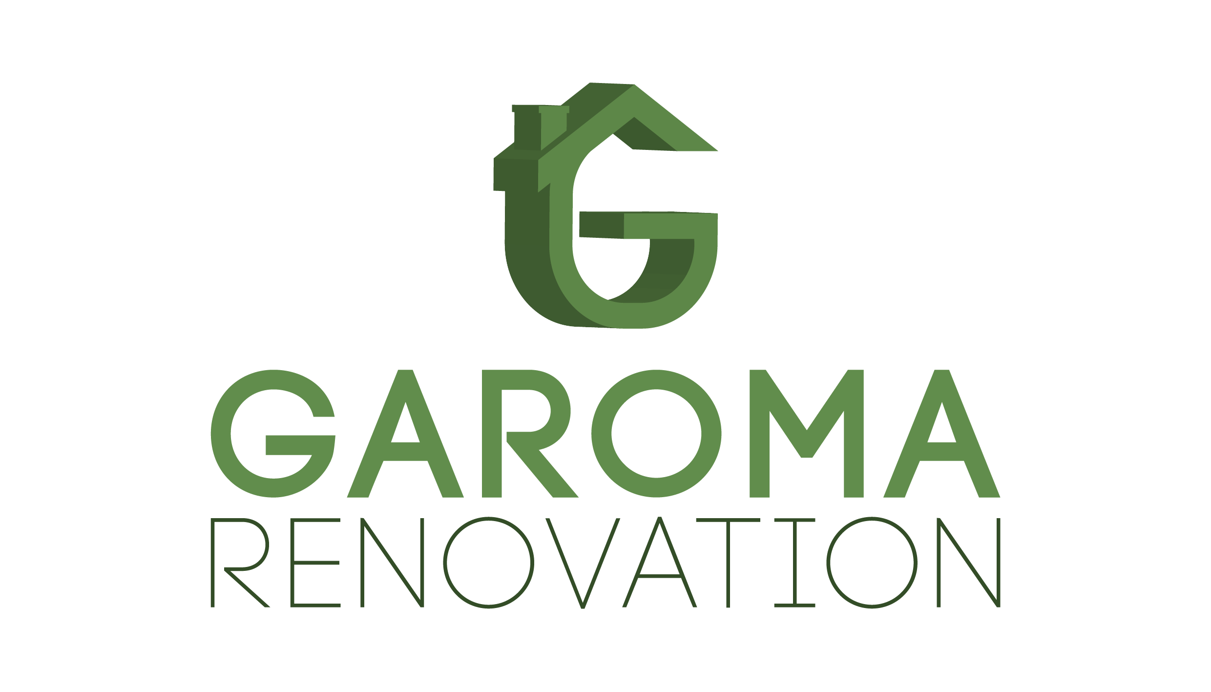 logo 3d de Garoma rénovation